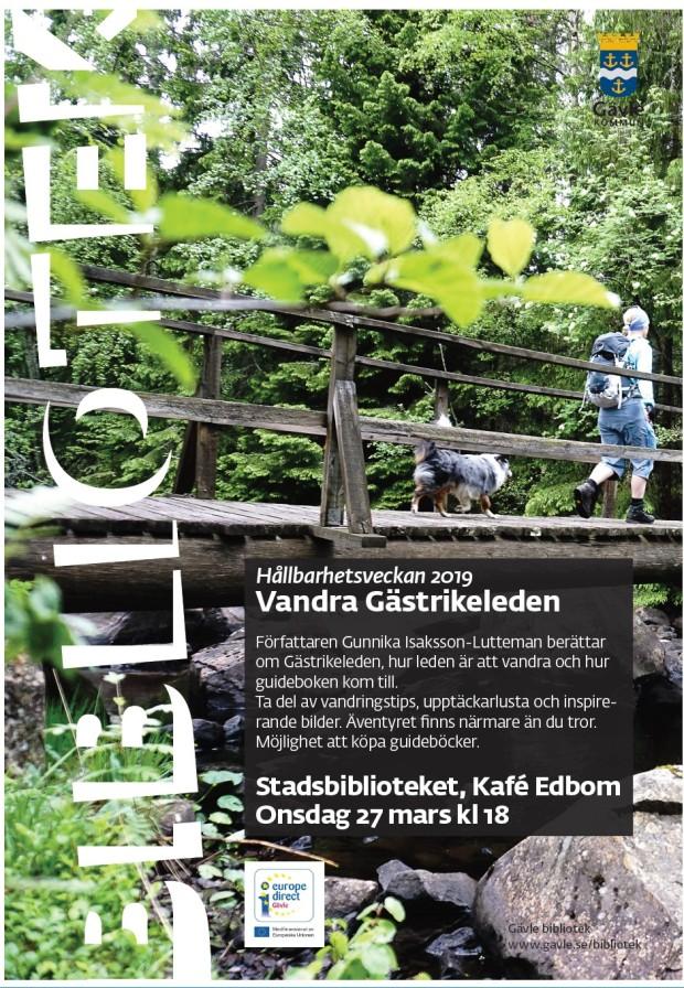 Affisch Gästrikeleden Föreläsning